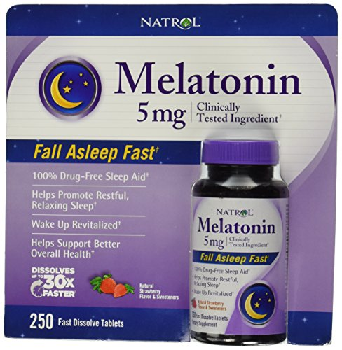 Natrol - Natrol® Melatonin 5 Mg, 250 Fast Dissolve Tablets Strawberry Flavor