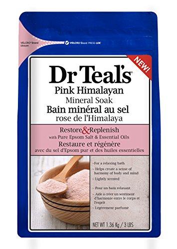 Dr Teal's - Dr Teal's Restore & Replenish Pure Epsom Salt & Essential Oils Pink Himalayan Mineral Soak 48 oz