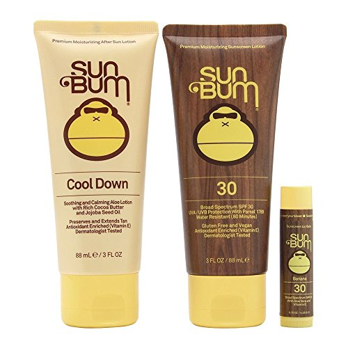Sun Bum - Sun Bum Premium Day Tripper Travel-Sized Sun Care Pack with Moisturizing Sunscreen Lotion, Sunscreen Lip Balm and Hydrating After Sun Lotion, Broad Spectrum UVA/UVB Protection, Hypoallergenic
