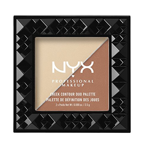 NYX - NYX PROFESSIONAL MAKEUP Cheek Contour Duo Palette, Perfect Match, 0.18 Ounce