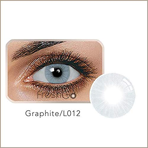 LIDFF - 5 Colors Eyes Color Contacts Lens Eyes Cosmetic Makeup Eye Shadow (Aurora grey)