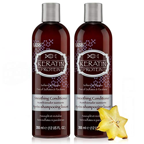 Hask - HASK KERATIN PROTEIN Conditioner Smoothing for all hair types, color safe, gluten free, sulfate free, paraben free - Set of 2 Conditioners