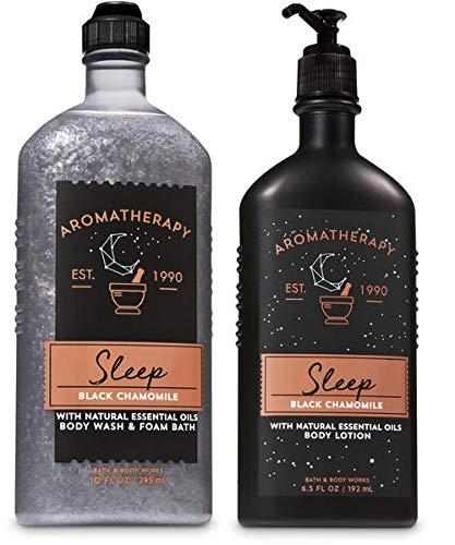 Bath & Body Works - Aromatherapy Black Chamomile Body Wash and Body Lotion Set