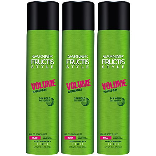 Garnier - Garnier Fructis Style Volume Hairspray, All Hair Types, 8.25 oz. (Packaging May Vary), 3 Count