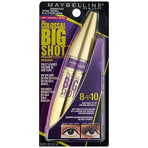 Maybelline New York - Maybelline Volum' Express The Colossal Big Shot Washable Mascara, 225 Brownish Black (Pack of 2)