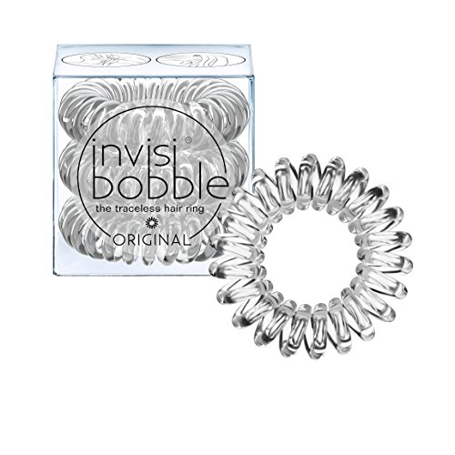 invisibobble Traceless Hair Ring and Bracelet, Crystal Clear