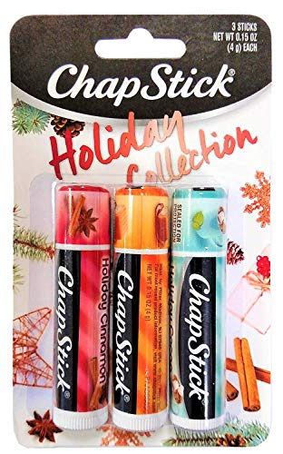 Chapstick - Chapstick Holiday Collection 2017, Pack of 3, Holiday Cinnamon, Caramel Creme & Holiday Cocoa, 0.15 Oz Ea