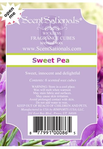ScentSationals - ScentSationals Wickless Sweet Pea Wax Cubes