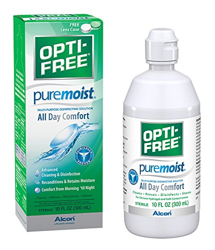 Opti-Free - Opti-Free Puremoist Multi-Purpose Disinfecting Solution with Lens Case, 10-Ounces