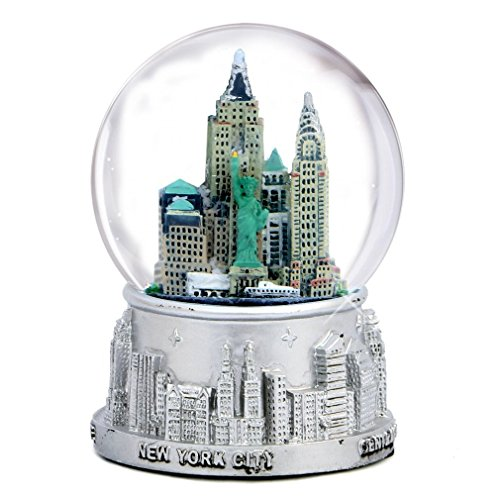 ZIZO USA - New York City Silver with Color Snow Globe 3.5 Inches Tall