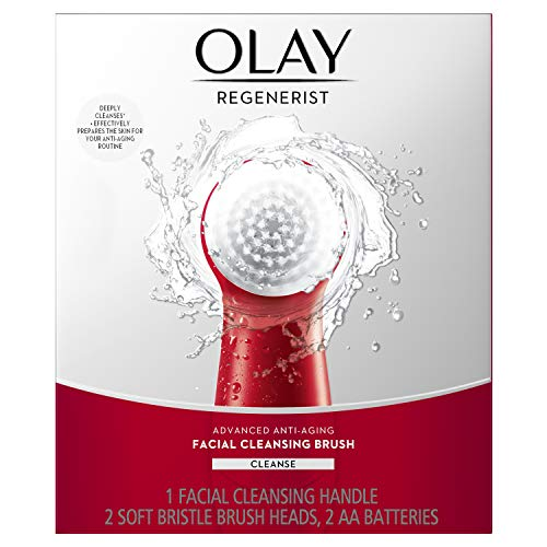 Olay - Facial Cleansing Brush by Olay Regenerist, Face Exfoliator with 2 Brush Heads