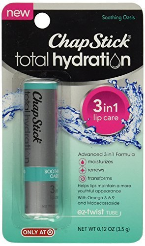 Chapstick ChapStick Total Hydration 3-in-1 Lip Care Soothing Oasis 0.12 oz (Pack of 3)