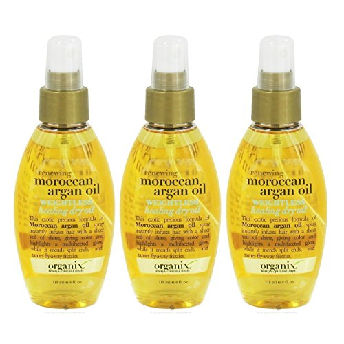 OGX - OGX Renewing Argan Oil of Morocco Weightless Healing Dry Oil, 4 Ounce (Pack of 3)