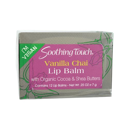 Soothing Touch - Soothing Touch, Lip Balm, Vegan, Vanl Chai, 12 in a case Net WT.25 OZ (7g)
