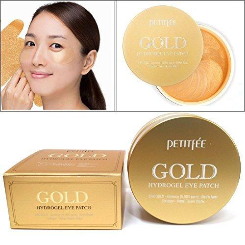 Petitfee - [PETITFEE] Gold Hydrogel Eye Patch 60 pcs (30 pairs) / moisture,dark circles,wrinkles / Korean Cosmetics