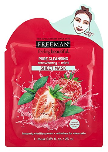 Freeman's - Strawberry+Mint Pore Cleansing Sheet Mask