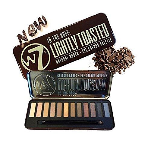 W7 - W7 Colour Lightly Toasted Natural Nudes Eye Colour Palette Tin, 12 Eye Shadows + FREE Eyebrow Razor, 3 Ct.