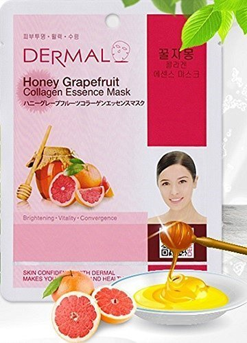 DERMAL - Dermal Korea Collagen Essence Mask - Honey Grapefruit (10 pack)