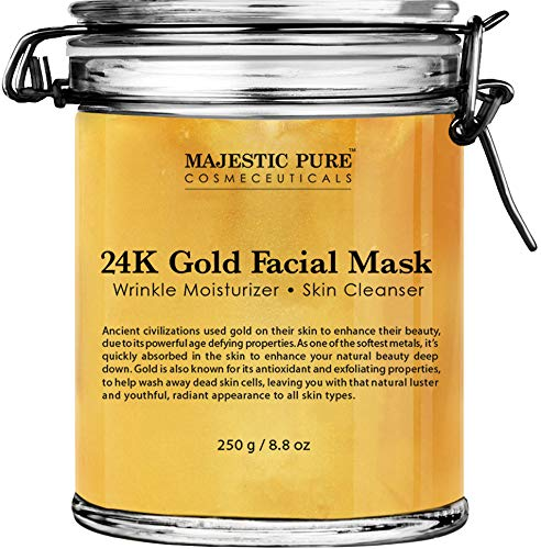 Majestic Pure - Majestic Pure Gold Facial Mask, Help Reduces the Appearances of Fine Lines and Wrinkles, Ancient Gold Face Mask Formula - 8.8 Oz