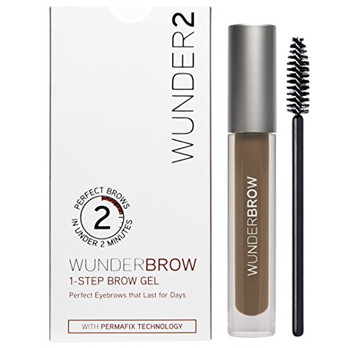 Wunder2 - WUNDER2 WUNDERBROW Long Lasting Eyebrow Gel for Waterproof Eyebrow Makeup, Brunette Color