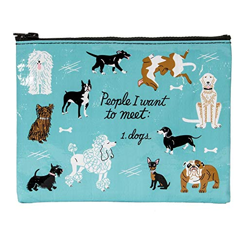 Blue Q - Blue Q Bags, Zipper Pouch, People I Want to Meet: 1. Dogs