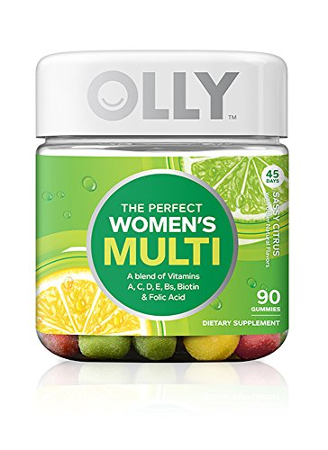 Olly - OLLY Perfect Womens Multi-Vitamin Gummy Supplements, Sassy Citrus, 90 Count