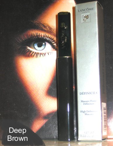 LANCOME PARIS - LANCOME DEFINICILS Mascara HIGH DEFINITION 0.23 Oz, DEEP BROWN (same as BLACK, UNUSUAL color)
