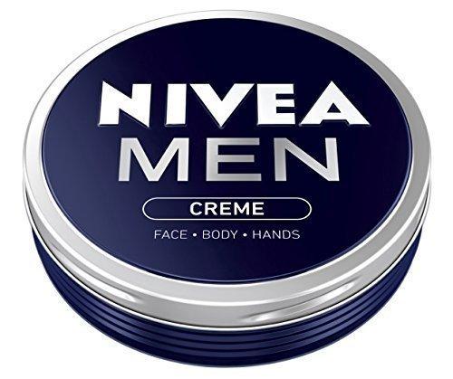 Nivea - 2x Nivea MEN CREME Cream FACE HAND BODY Moisturiser Dry Skin 75ml TIN by Nivea
