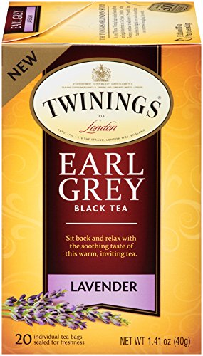Twinings - Twinings of London Lavender Earl Grey Tea Bags, 20 Count (Pack of 6)