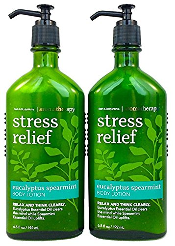Bath & Body Works - Bath & Body Works Aromatherapy Stress Relief - Eucalyptus + Spearmint Body Lotion, 6.5 Fl Oz, 2-Pack