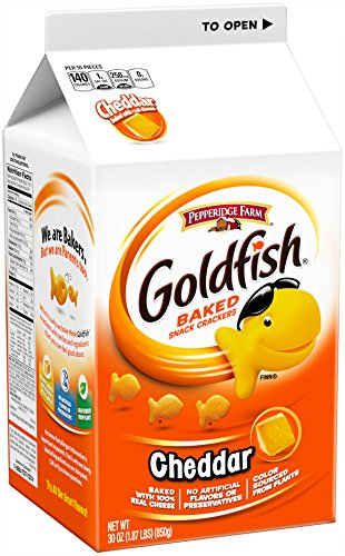 Pepperidge Farm - Pepperidge Farm, Goldfish, Crackers, Cheddar, 30 oz, Carton