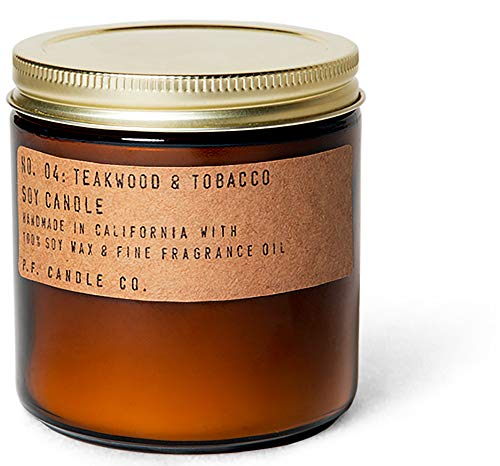 P.F. Candle Co. - P.F. Candle Co..... - No. 04: Teakwood & Tobacco Soy Candle (12.5 oz)
