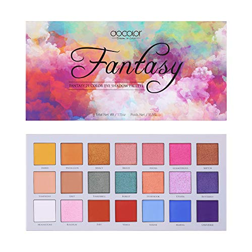 Docolor - Docolor Eyeshadow Palette 21Colors Fantasy Eye Shadow Matte Glitter Highly Pigmented Makeup Palette