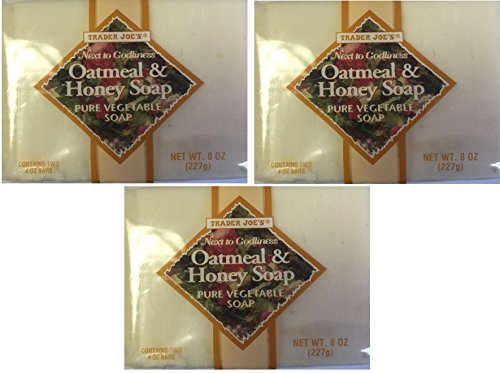 Trader Joe's - Trader Joe's Next to Godliness Oatmeal & Honey Soap 4oz - Pack of 2 (Three Pack (6 bars))