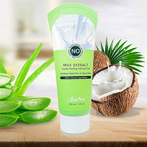 Care me - Exfoliating Peel Gel with Coconut Milk & Glycolic Acid - A Non-scrub Facial Exfoliator Removes Dead Skin Cells, Brightens Dull Revealing a Brighter Glowing Skin - a Natural Exfoliant for Face & Body