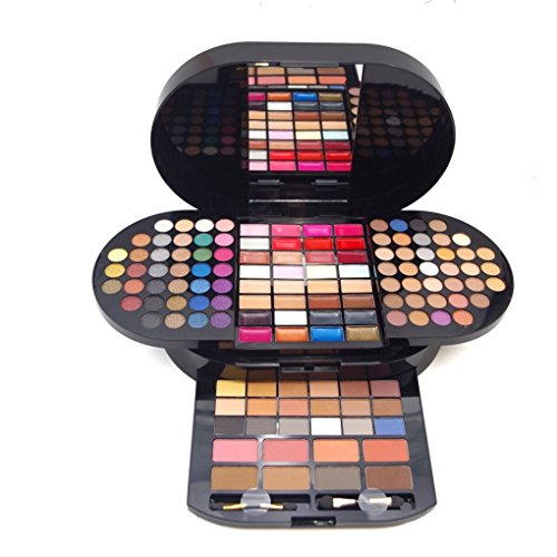 FantasyDay - FantasyDay Pro Gift Set Makeup Kit All In One Makeup Palette 130 Colors Eyeshadow Palette Carry All Trunk Makeup Kit Includes Concealer, Lipgloss, Blush, Eyebrow powder and Brush