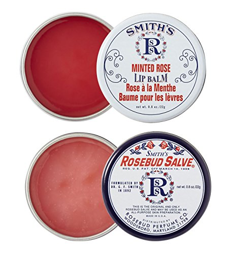 Rosebud Perfume Co. - Rosebud Perfume Co. ROSEBUD SALVE / MINTED ROSE Lip Balm Two Pack: 2 x 0.8 tins