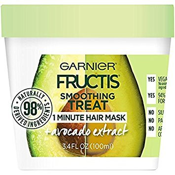 Garnier - Garnier Fructis Smoothing 1 Minute Hair Mask, Avocado, 3.4 fl. oz. (Pack of 2)