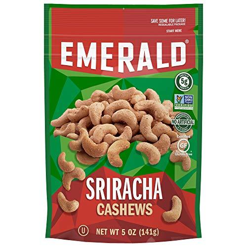 Emerald Emerald Nuts, Sriracha Cashews, 5 Ounce Resealable Bag