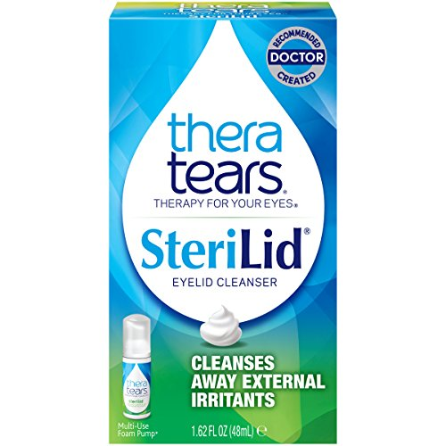 Thera Tears - TheraTears Sterilid Eyelid Cleanser, Lid Scrub for Eyes and Eyelashes, 1.62 Fl oz Foam Pump, 48 mL