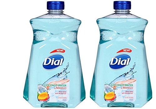 Dial - Dial Liquid Hand Soap with Moisturizer, Coconut Water & Mango, 52 Ounce, Pack of 2