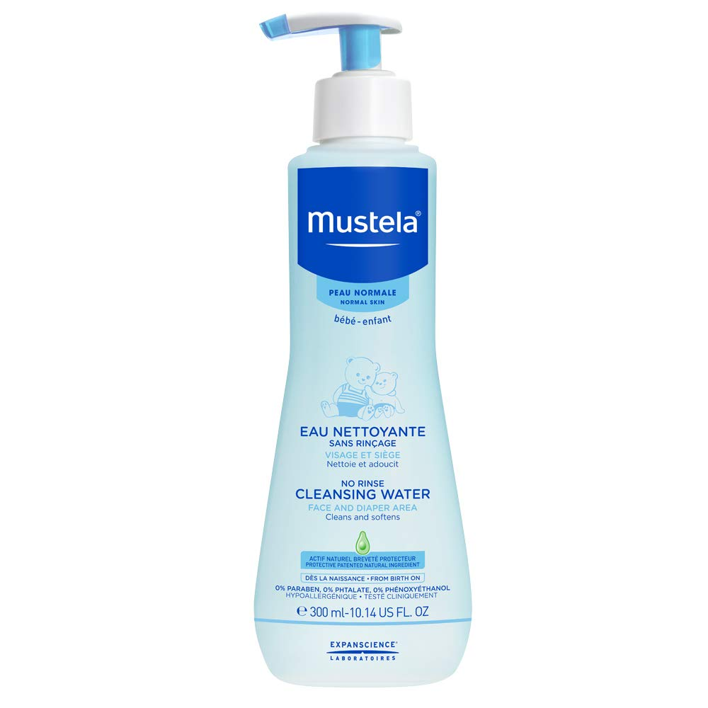 Mustela - Mustela No Rinse Cleansing Water, Gentle Micellar Water with Natural Avocado Perseose and Aloe Vera, for Baby Normal Skin