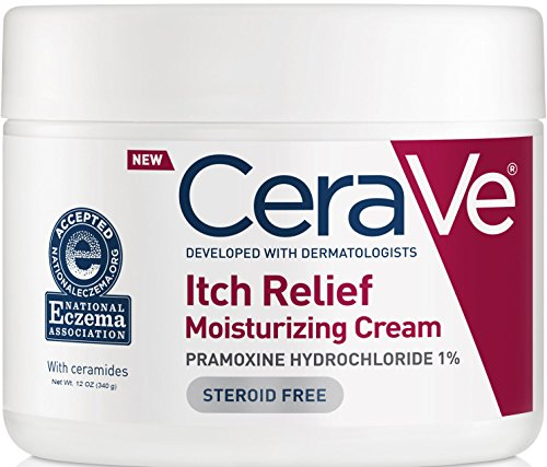 CeraVe - CeraVe Itch Relief Moisturizing Cream Tub 12 oz with Pramoxine Hydrochloride and Ceramides for Relief From Itch and Irritation