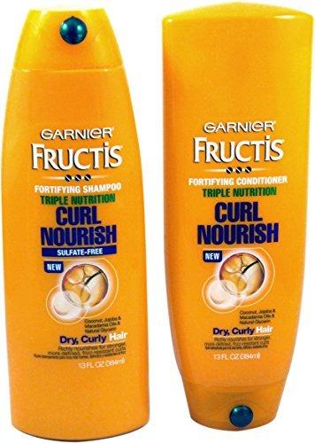Garnier Fructis - Triple Nutrition Curl Nourish Bundle: Shampoo and Conditioner