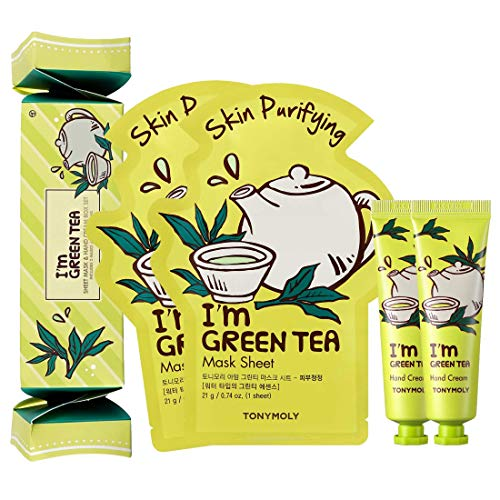 TonyMoly - Sheet Mask with Hand Cream Box Set, I'm Green Tea