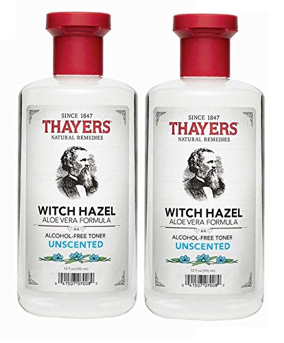 THAYERS - Thayers Alcohol-free Unscented Witch Hazel and Aloe Vera Formula Toner 12 oz. (Pack of 2)