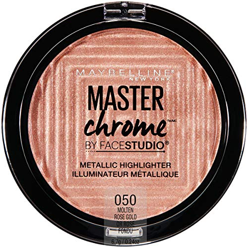 Maybelline New York - Facestudio Master Chrome Metallic Highlighter Makeup, Molten Rose Gold