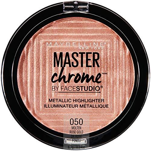 Maybelline New York - Facestudio Master Chrome Metallic Highlighter Makeup, Molten Rose Gold
