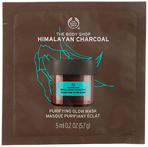 The Body Shop - The Body Shop Himalayan Charcoal Purifying Glow Mask, Single Use Expert Facial Mask, 100% Vegan, 0.2 Oz.