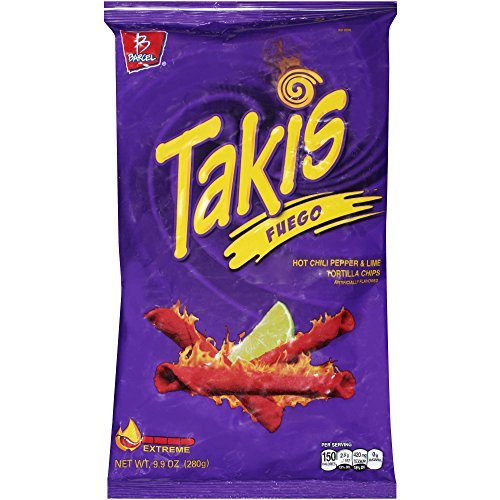 Takis - Takis Fuego Hot Chili Pepper & Lime Tortilla Chips, 9.9-Ounce Bag (1 Pack)